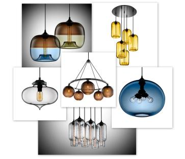 Very Awful Blown Glass Modern Pendant Lights