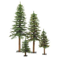 Vickerman Natural Bark Alpine Tree Set