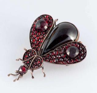 Victorian Garnet Gold Bug Pin Sale 1stdibs