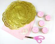 Video Diy Doily Cupcake Wrappers Lindsay Ann Bakes
