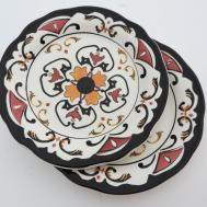 Vintage Aztec Tribal Ceramic Hand Painted Collector Plates