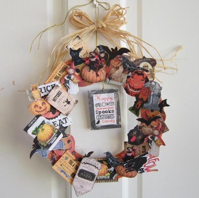 Vintage Halloween Wreath Minutes Hollywood58