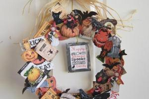 Vintage Halloween Wreath Minutes Hollywood58