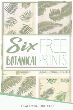 Vintage Inspired Botanical Printables Chatty