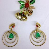 Vintage Jewelry Jingle Bell Set Earrings