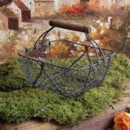 Vintage Style Wire Shabby Garden Chic Basket Home Decor