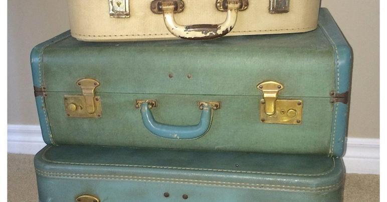 Vintage Suitcase Side Table Hometalk