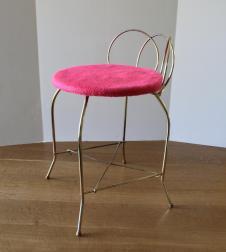 Vintage Vanity Chair Metal Bench Stool Retro