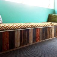Wall Bench Storage Ideas Railing Stairs Kitchen