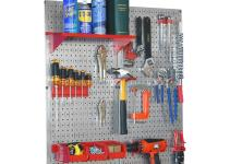 Wall Control Pegboard Utility Tool Storage Kit Galvanized