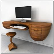 Wall Mounted Floating Desk Drawer Interior