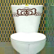 Wall Sticker Toilet Peeping Seat Decals Decal