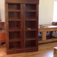 Walnut Bookcase Secret Hidden Compartments
