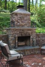 Warm Outdoor Fireplace Plans Patio Rustic Modern