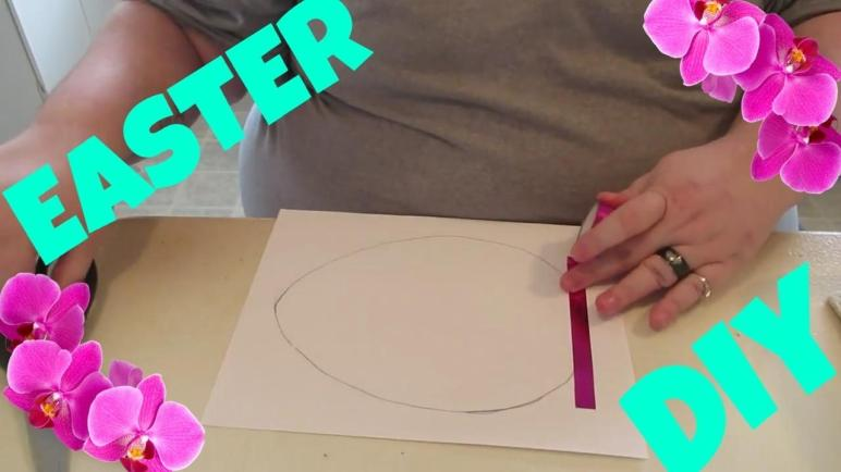 Washi Tape Easter Egg Diy Crafts Projects