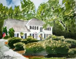 Watercolor Paintings Art Derek Mccrea House