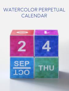 Watercolor Perpetual Calendar Printable Mod