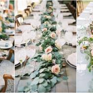 Wedding Trend Unique Floral Garland Table