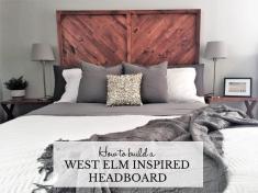 West Elm Headboard Frame Nailhead Studded