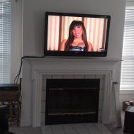 Wethersfield Philipstv Mounted Above Fireplace