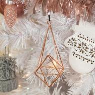 White Christmas Tree Stylish Rose Gold Pink