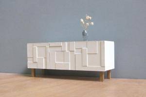 White Sideboard Credenza Scale Collectible