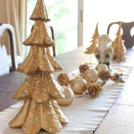 White Silver Gold Christmas Decoration Chuzai Living