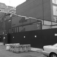 Williamsburg Slanty Shipping Container House Stacked