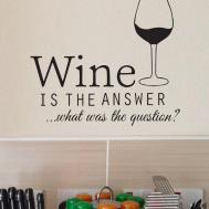 Wine Answer Wall Decal Funny Humour Alcohol Sticker