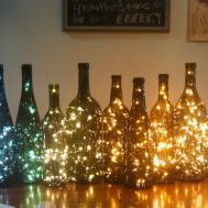 Wine Bottle Decor Lights Inside
