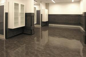 Wonderful Gray Gloss Linoleum Flooring Like Granite Floors