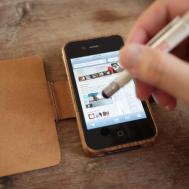 Wood Leather Pen Holder Iphone Case Diy Been
