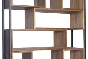 Wood Metal Bookcase Book Storage Ultra Rustic