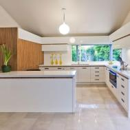 Wood White Modern Kitchen Interior Design Ideas