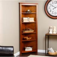 Wooden Glass Corner Rack Small Wood Shelf