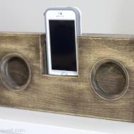 Wooden Phone Amplifier Speaker Cord Batteries Needed