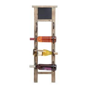 Woodland Imports Unique Chalkboard Wine Rack