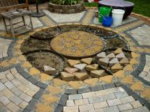 Wow Thats Busy Garden Creating Paver Pebble