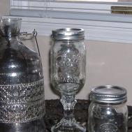 Wreath Artist Mason Jar Wine Glasses