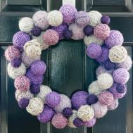 Yarn Ball Wreath Easy Crafts Homemade Decorating