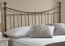Zoe Metal Headboard Black