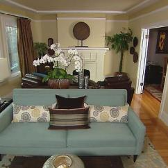 How To Decorate A Long Living Room With Fireplace At The End Decorating Ideas For Rooms Black Sofa Transitional Hgtv