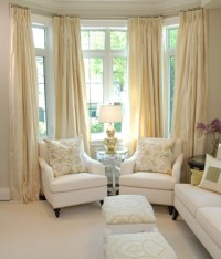 Yellow Silk Drapes - Transitional - living room - Sarah ...