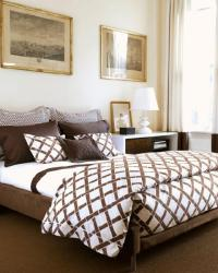 White And Brown Bedding Design Ideas