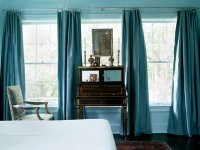 Turquoise Curtains - Transitional - bedroom - My Home Ideas