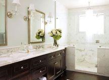 Calcutta Marble - Transitional - bathroom - House Beautiful