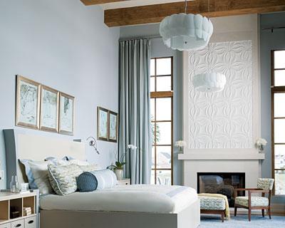 Comfort Gray  Contemporary  bedroom  Sherwin Williams