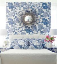 Wallpaper Accent Wall - Transitional - bedroom - House ...