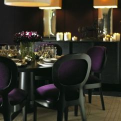 Purple Upholstered Dining Chairs Bed Bath Beyond Velvet - Contemporary Room
