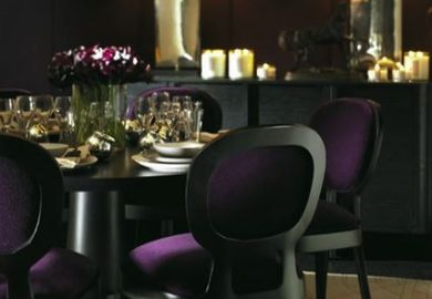 Purple Black Dining Room